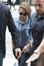 Kristen Stewart - Outside Her Hotel in New York City, August 2015