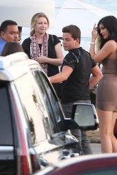 Kylie Jenner in Tight Mini Dress at Nobu in Malibu, August 2015