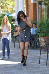 Kylie Jenner Leggy in Mini Dress - Out for Lunch at Sugar Fish in Calabasas, July 2015