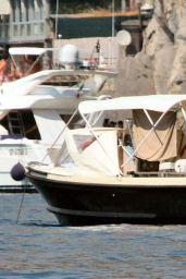 Lana Del Rey On Holiday With Boyfriend Francesco Carrozzini in Portofino, August 2015