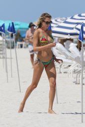 Lauren Stoner in a Bikini at a Beach in Miami, August 2015