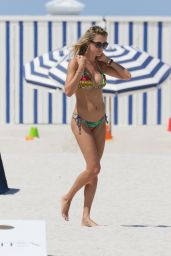Lauren Stoner in a Bikini at a Beach in Miami, August 2015