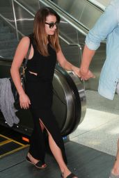 Lea Michele Airport Style - at LAX, August 2015