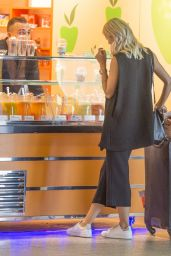 Lena Gercke Enjoys a Smoke - Berlin, August 2015