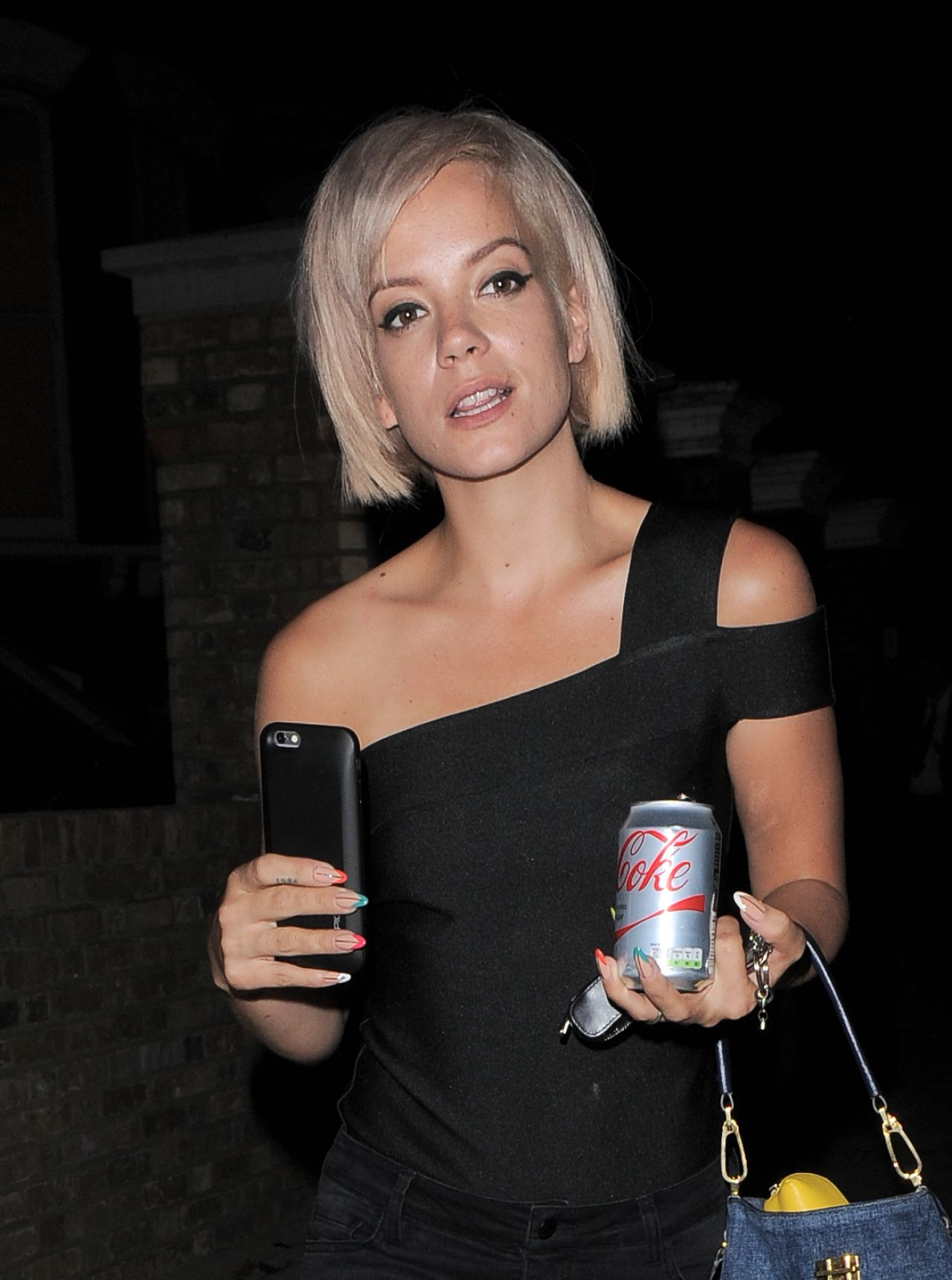 Lily Allen Night Out Style – Out in London, August 2015