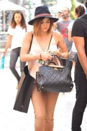 Lucy Hale - Shopping at The Grove in West Hollywood, August 2015