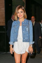 Lucy Hale Shows Off Her Legs - New YorkCity, August 2015