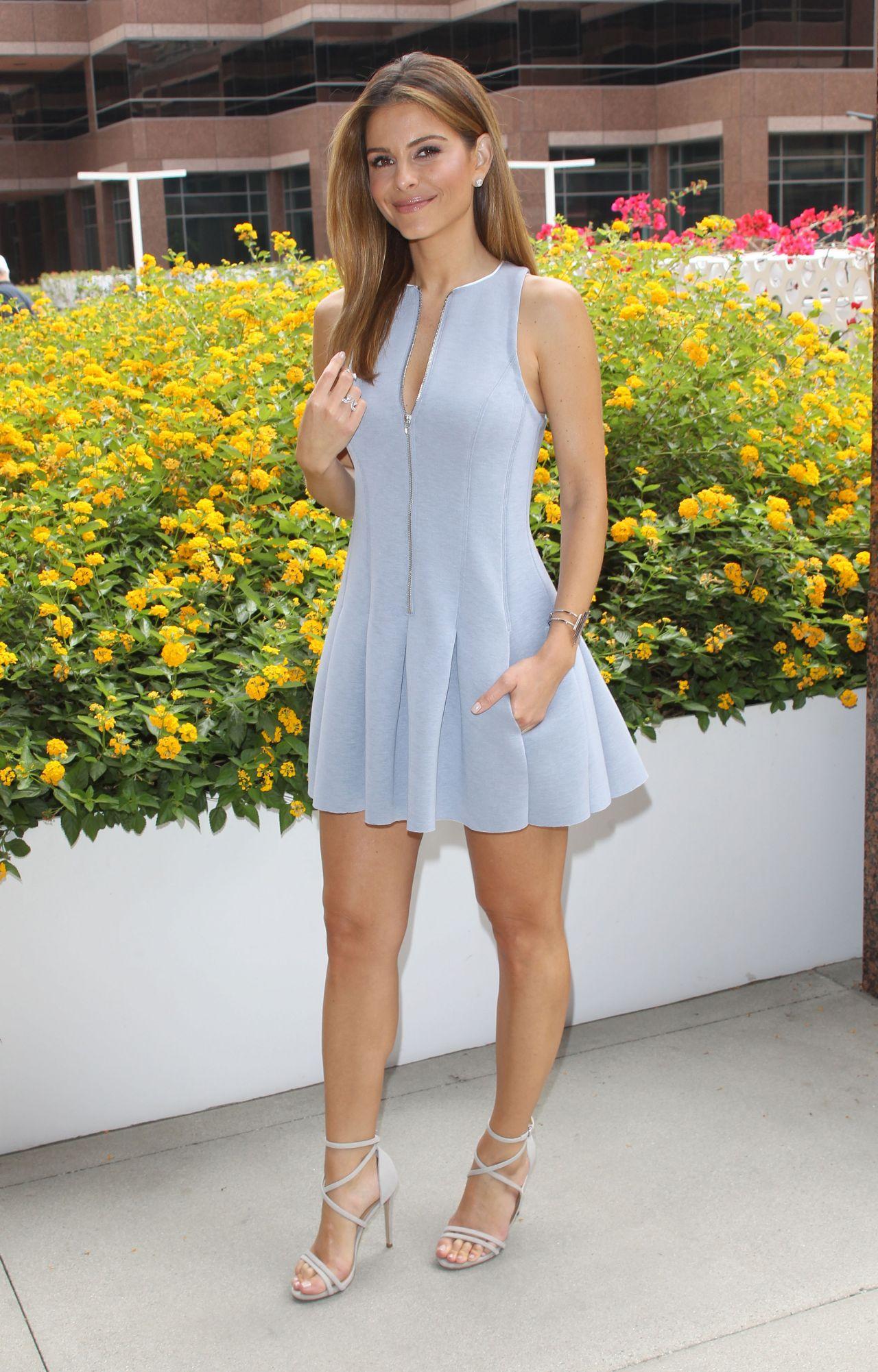 Maria Menounos In Alexander Wang Dress In Los Angeles