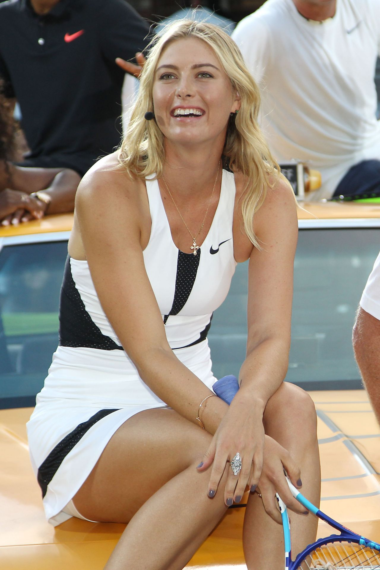 Maria Sharapova  Nikes Nyc Street Tennis Event In New -9317