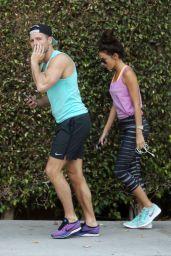 Michelle Keegan in Leggings out in Los Angeles, August 2015
