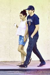 Mila Kunis and Ashton Kutcher at Spa Date in Studio City, August 2015