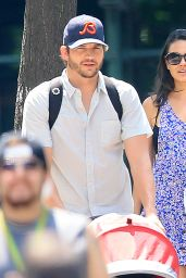 Mila Kunis & Ashton Kutcher - Out in New York City, August 2015