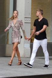 Nina Agdal - Out in New York City, August 2015