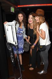 Nina Dobrev at the Taylor Swift concert in Los Angeles, August 2015