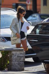 Nina Dobrev in Shorts - Out in NYC, August 2015