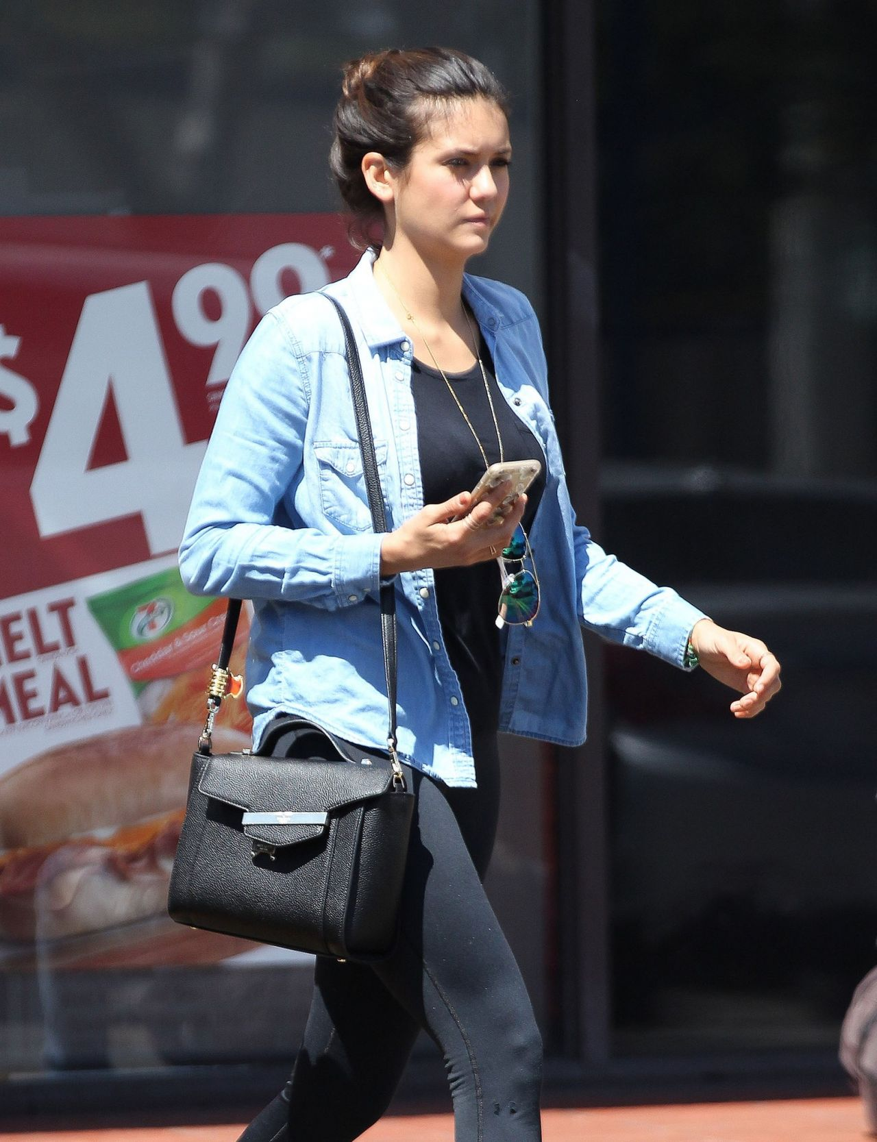 Dobrev Outside 7-Eleven in West Hollywood, August 2015