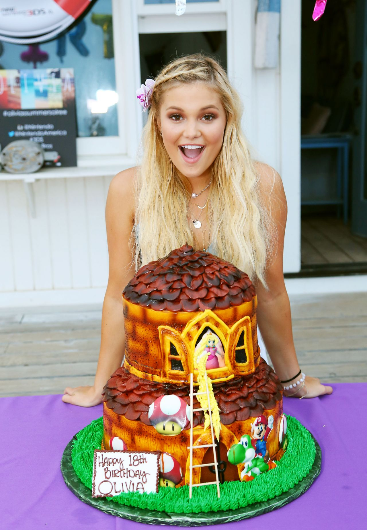 Olivia Holt 18th Birthday Party Hosted By Nintendo In Malibu
