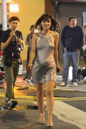 Olivia Wilde - Vinyl Movie Set Photos, New York City, August 2015