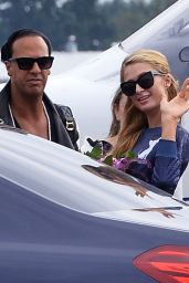 Paris Hilton - Arriving at the Airport and Hotel in Lodz, Poland