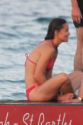 Pippa Middleton in Red Bikini - Out with Friends in St Barths, August 2015