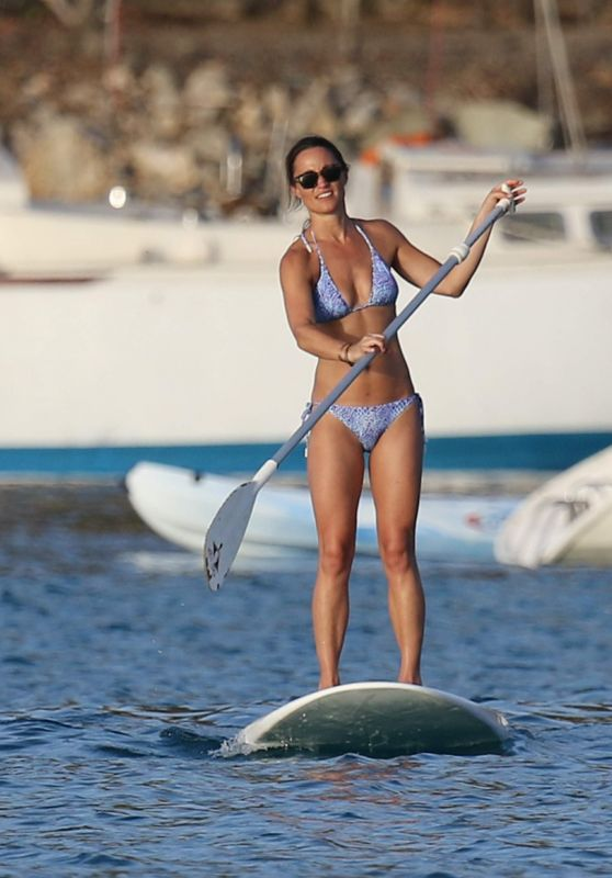 Pippa Middleton - Paddle Boarding in St Barths, August 2015