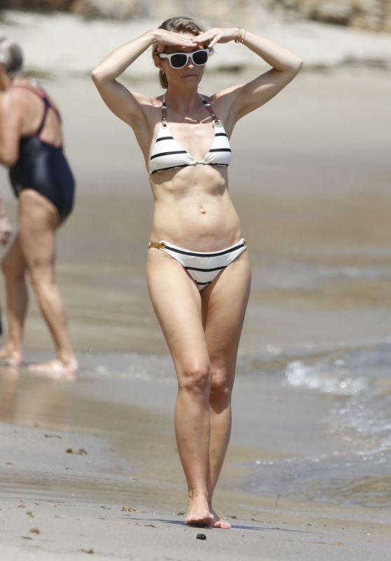 Rebecca Gayheart in a Bikini on a Beach in Malibu, August 2015