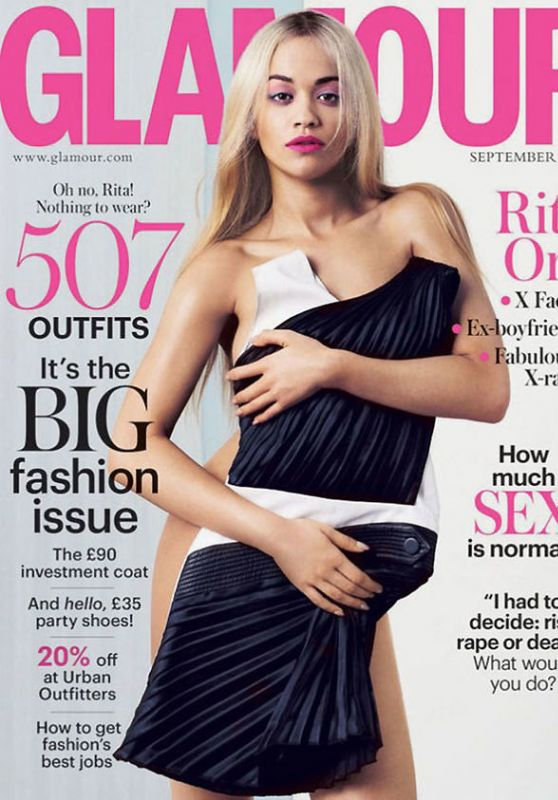 Rita Ora - Glamour Magazine UK September 2015 Cover and Pics