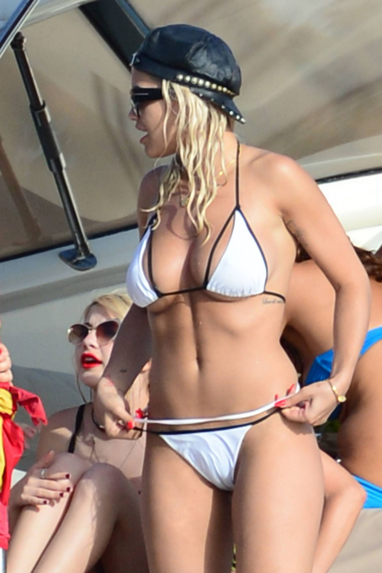 Rita Ora In Bikini On A Yacht In Ibiza August 2015