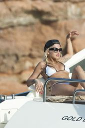 Rita Ora in Bikini - On a Yacht in Ibiza, August 2015