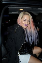 Rita Ora Leaving NoBu in Los Angeles, August 2015