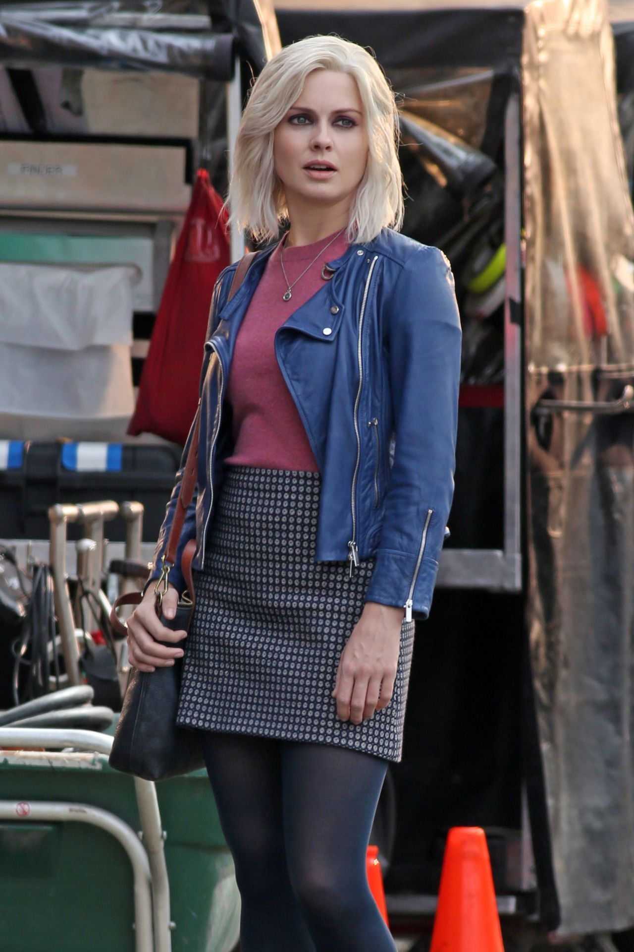 Rose Mciver On The Set Of Izombie In Vancouver