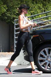 Rosie Huntington-Whiteley Booty in Leggings - Leaving a Gym in Los Angeles, August 2015