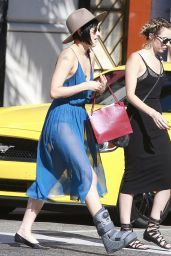 Rumer Willis Shopping in Beverly Hills, August 2015
