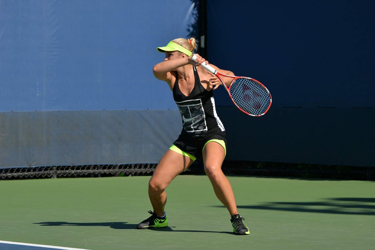 Sabine Lisicki – Practice at the US Open in New York ...