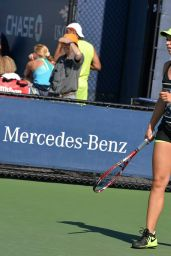 Sabine Lisicki – Practice at the US Open in New York, August 2015