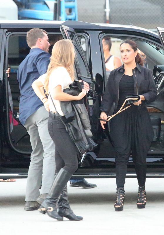 Salma Hayek Arriving at the Taylor Swift Concert in LA, August 2015