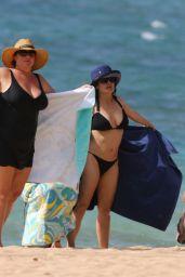 Salma Hayek in a Bikini at a Beach in Hawaii, August 2015