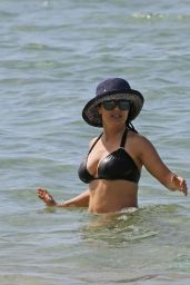 Salma Hayek in a Bikini at a Beach in Hawaii, August 2015