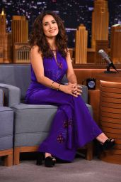 Salma Hayek - The Tonight Show With Jimmy Fallon, August 2015