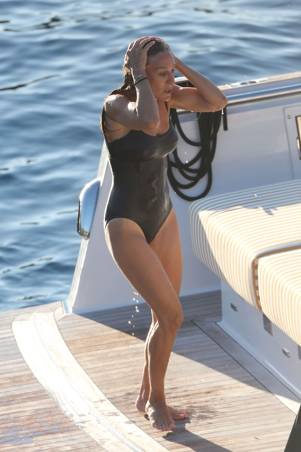 Sarah Jessica Parker In A Swimsuit In Ibiza August 2015