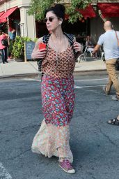 Sarah Silverman in Summer Dress - Out in NYC, August 2015