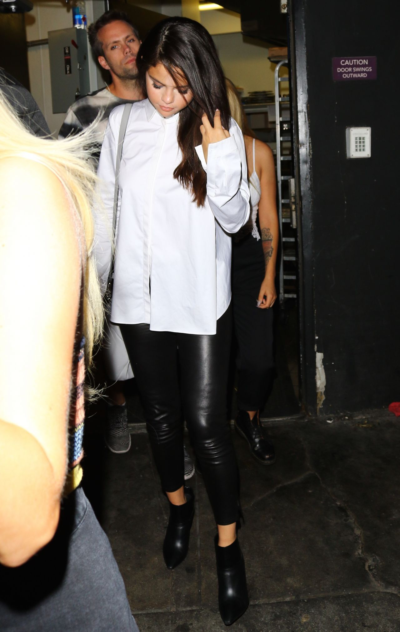 Selena Gomez Wearing Leather Pants Out In West Hollywood