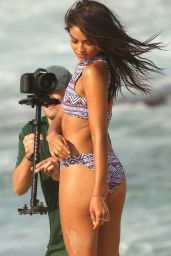 Shanina Shaik - On the Set of a KOOKAI Photoshoot in Australia