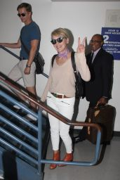 Sharon Stone Airport Style - at LAX, August 2015