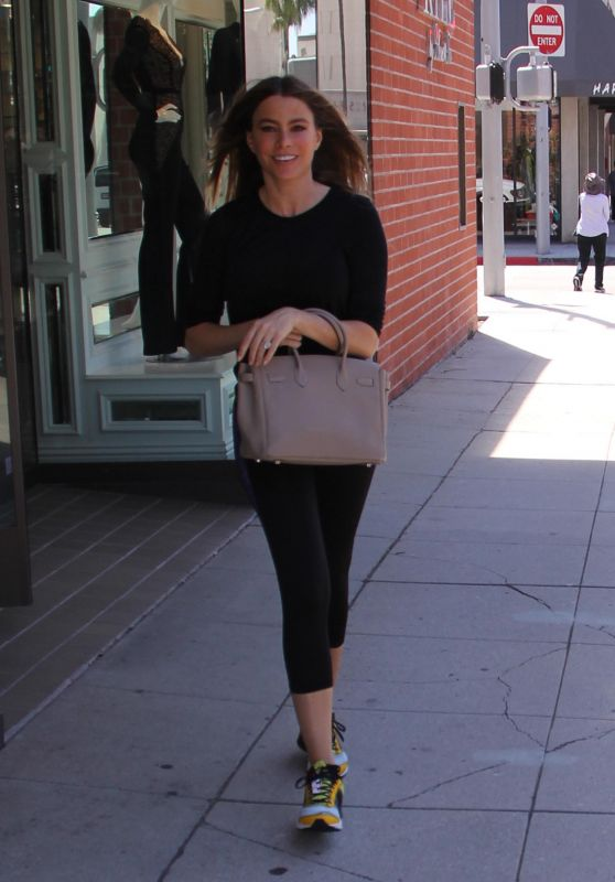 Sofia Vergara - Shopping in Beverly Hills, August 2015
