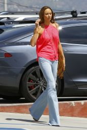 Stacy Keibler out in Burbank, August 2015