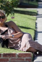 Stephanie Pratt - Out With Her Dog in Beverly Hills, July 2015