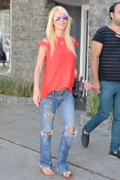 Tara Reid in Ripped Jeans - Out in LA, August 2015
