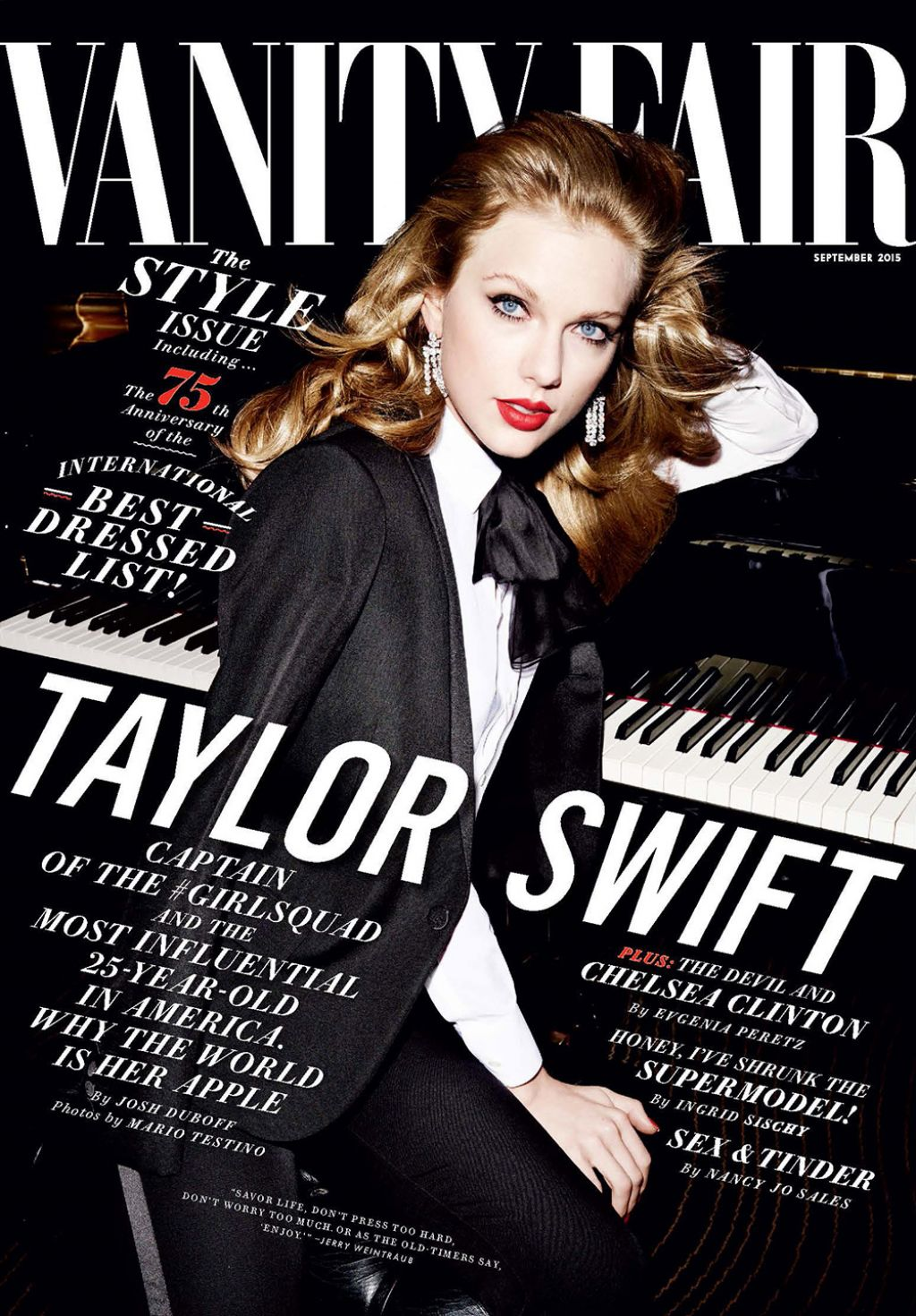 vanity fair magazine cover and more photos september 2015
