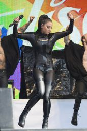Tulisa Contostavlos in Rubber Catsuit -  Live Brighton Gay Pride